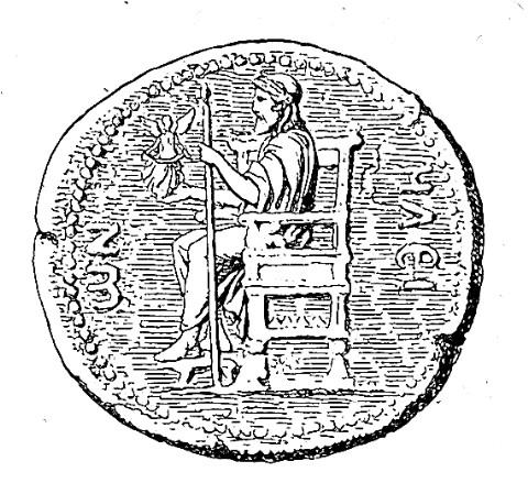 Zeus Statue Münze